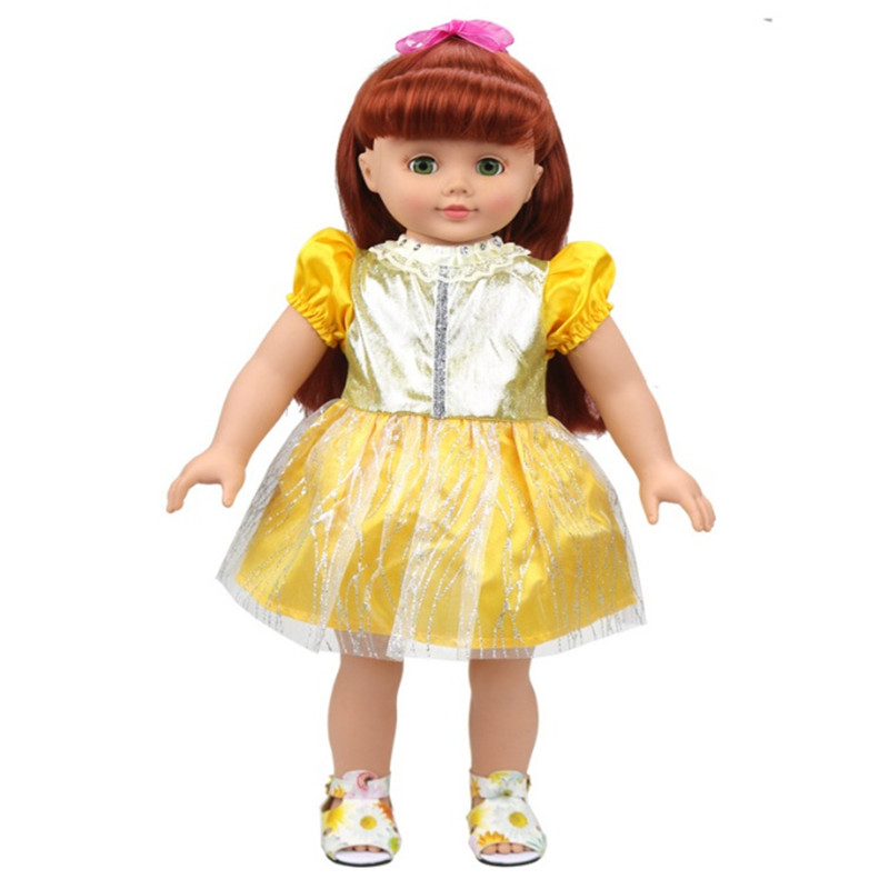 the new 2017 hot sale 18 inch american girl dolls beautiful yellow dress only sell clothes in. Black Bedroom Furniture Sets. Home Design Ideas