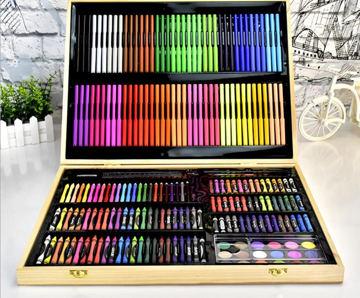 251pcs painting tools gift brush watercolor pen crayon set student stationery box art supplies 3576p fine financia pen student pen art fountain pen 0 38 0 5 0 8mm optional gift box set