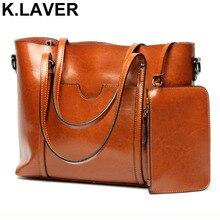 ФОТО k.laver women casual tote genuine leather handbag bag fashion vintage large shopping bag designer crossbody shoulder bags female