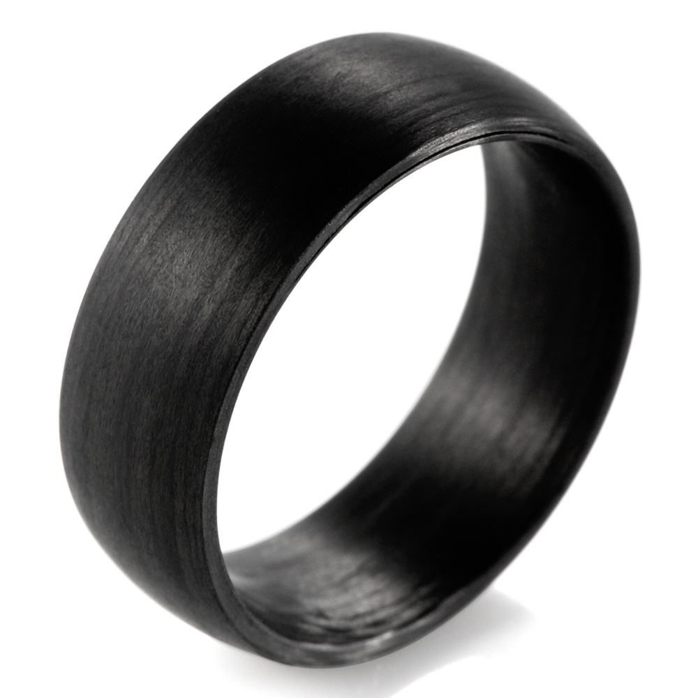 Shardon Domed 8mm Solid Black Carbon Fiber Ring With Matte Finishing Wedding Band Men Jewelry In Bands From Accessories On: Carbon Fiber Wedding Band Men At Websimilar.org