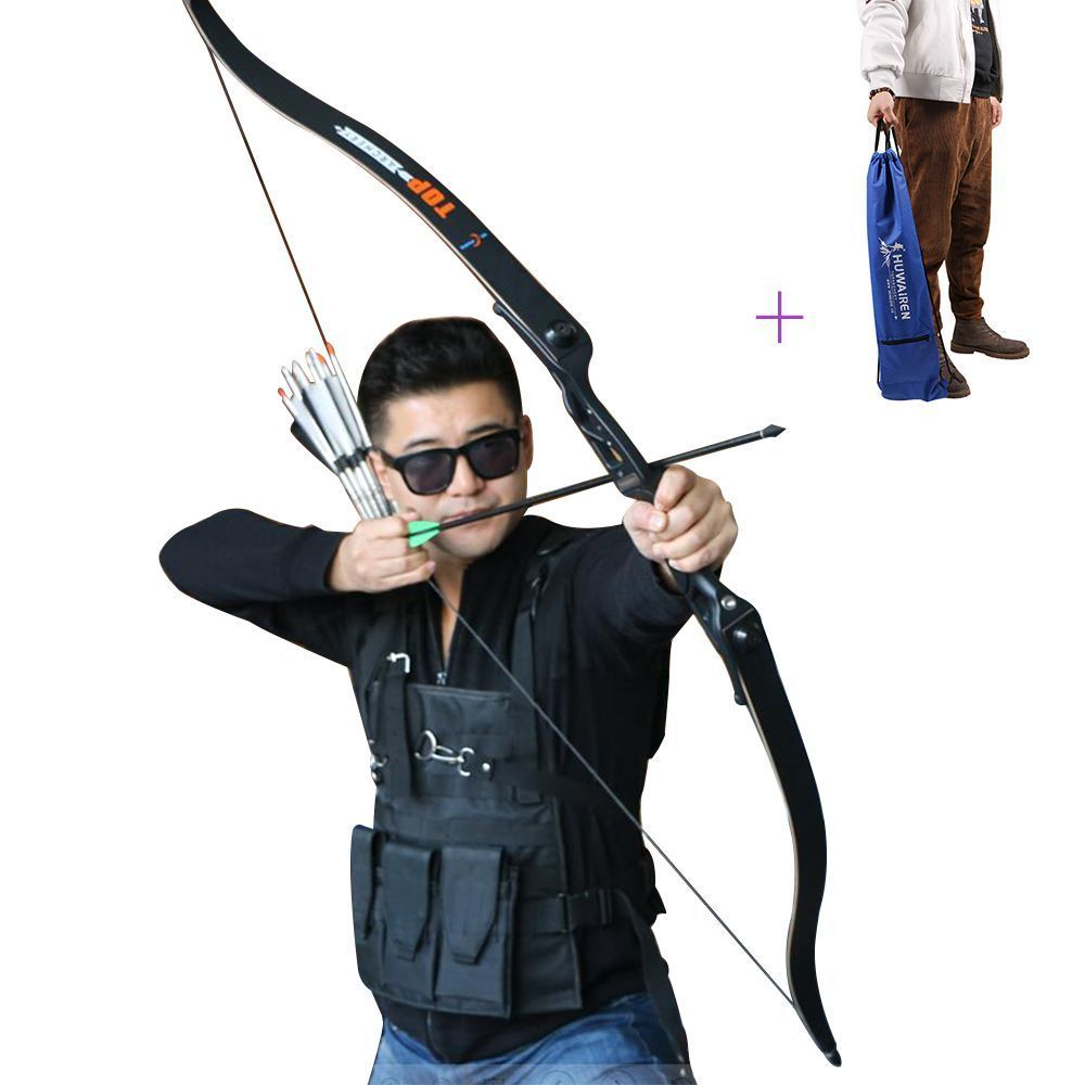 56inch 30-50lbs Archery Recurve Bow Metal Riser Hunting Shooting Bow Black Training Takedown Bow стоимость