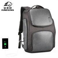 Kingsons Для мужчин солнечной зарядки рюкзак USB рюкзак студент Колледж Сумка Bookbag Рюкзак Anti Theft рюкзак
