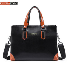 FEIDKAPOLO Brand Bag Men Laptop Shoulder Bags Business Men's Leather Tote Bag for Men Messenger bags Mens Handbags