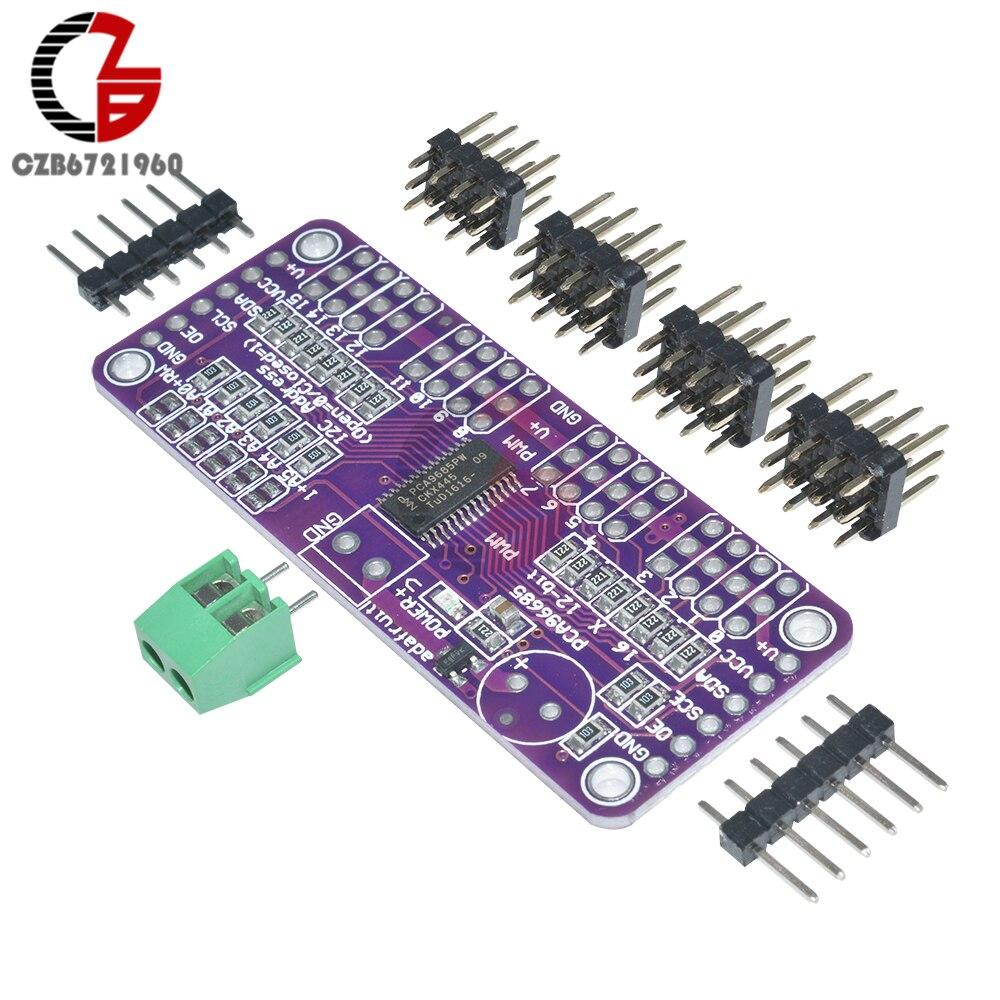 PCA9685 16-Kanal 12 bit PWM Servo Fahrer I2C Interface für Arduino Raspberry