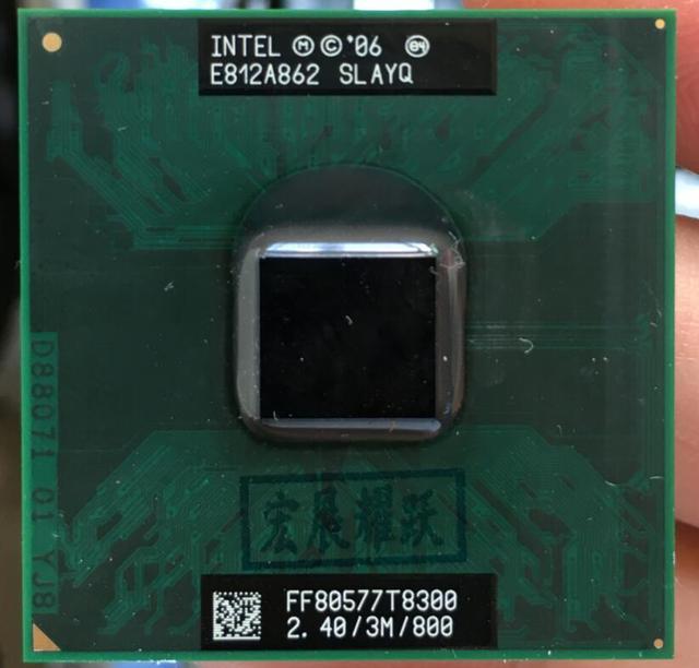 إنتل كور 2 ديو T8300 CPU محمول المعالج PGA 478 وحدة المعالجة المركزية 100% يعمل بشكل صحيح