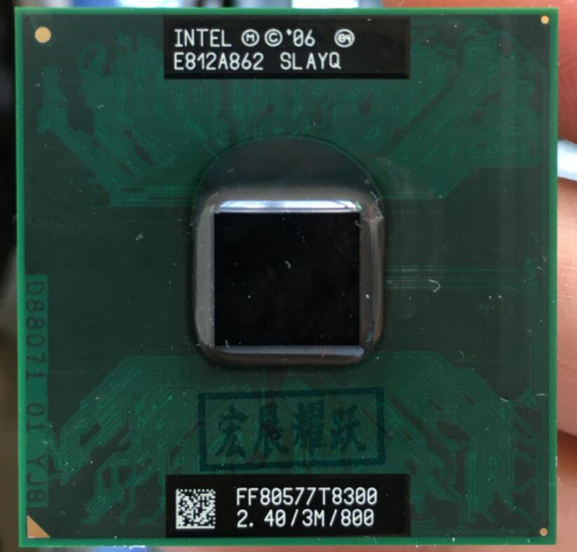 Intel core 2 duo t8300 cpu processador portátil pga 478 cpu 100% funcionando corretamente