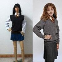 Hermione Granger Gryffindor Uniform Cosplay Costume Halloween Custom Made Free Shipping