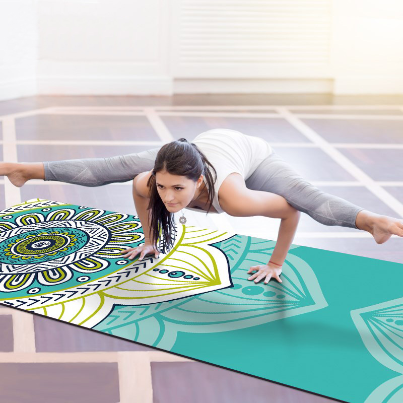 183x68cm Folding Printed Yoga Mat Fitness Natural Rubber 1 5mm Non slip Gym Sports Exercise Mats