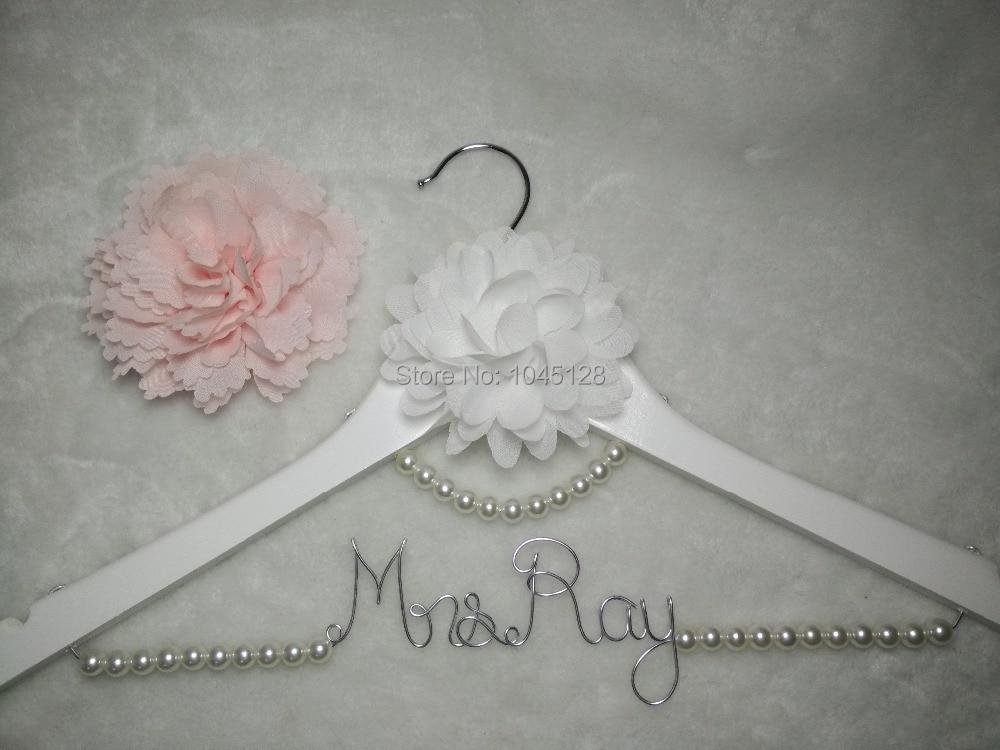 Gepersonaliseerde bruiloft Hanger, aangepaste bruids Hanger, - Home opslag en organisatie