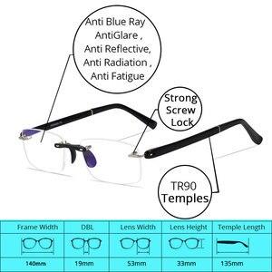 Image 5 - Occhiali da lettura con il Caso + 1.00 + 1.50 + 2.00 + 2.50 + 3.00 + 3.50 + 4.00 TR90 Oculos de Leitura Senza Montatura Uomini Anti riflettente