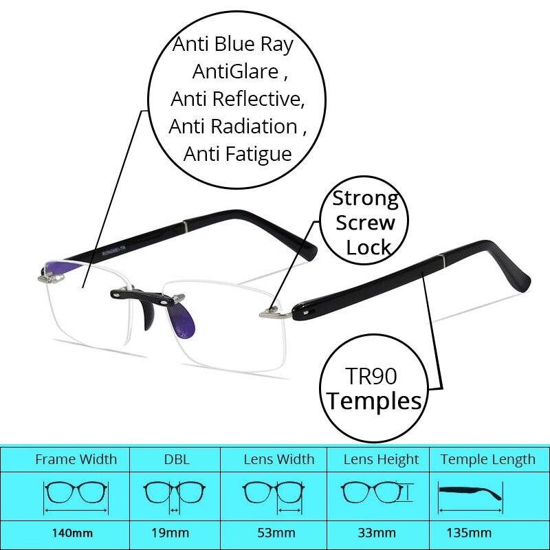 Läsglasögon med fall +1.00 +1.50 +2.00 +2.50 +3.00 +3.50 +4.00 TR90 - Kläder tillbehör - Foto 5