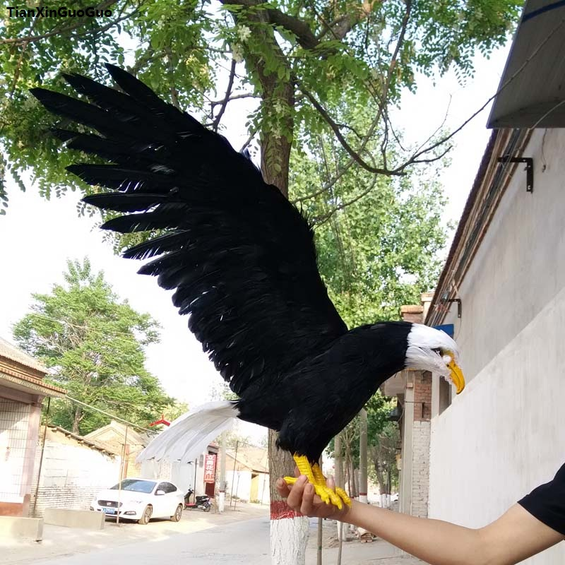 large 45x100cm simulation eagle spreading wings bird model polyethylene&black feathers bird handicraft decoration s1114 simulation parrot bird large 40x50cm spreading wings feathers bird model home decoration gift h1126
