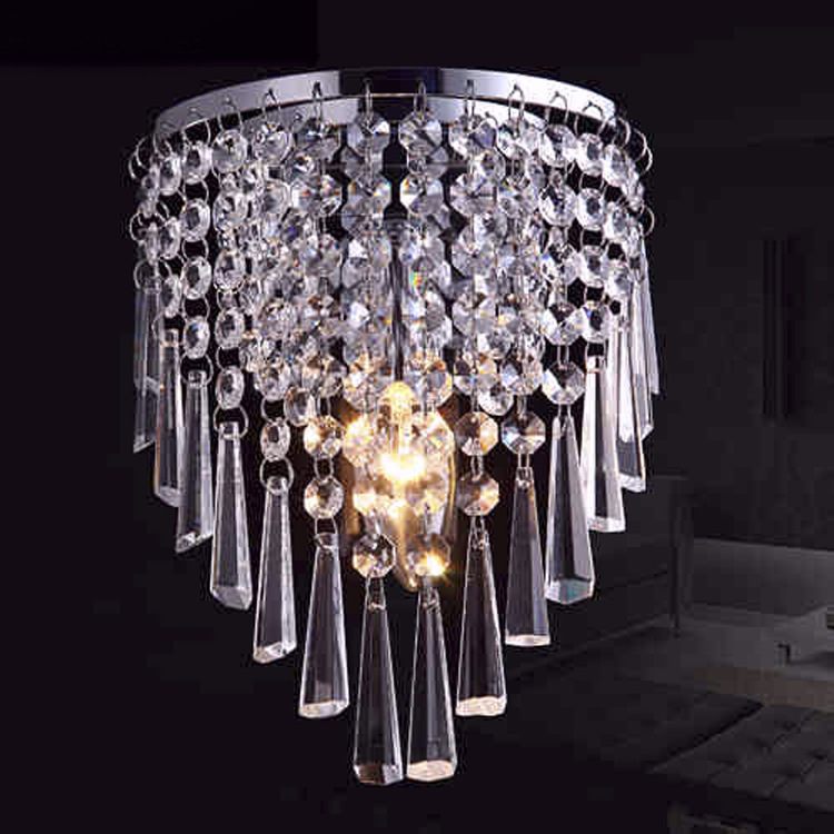 Factory direct batch LED crystal pendant lamp head modern minimalist fashion bedroom living dining room bed aisle lighting SJ52 crystal flower pendant light modern lighting living room lamp bedroom lamp aisle lighting