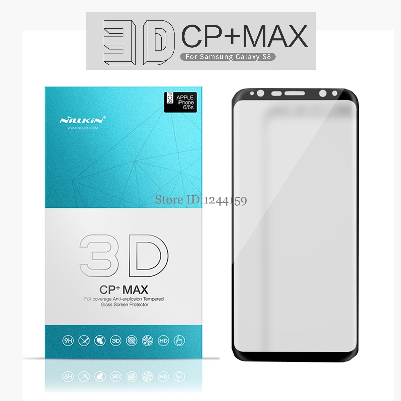 Цена за СПС Samsung Galaxy S8 плюс закаленное стекло Полный чехол Nillkin 3D CP + Max Screen Protector для Samsung Galaxy S8 /S8 + plus