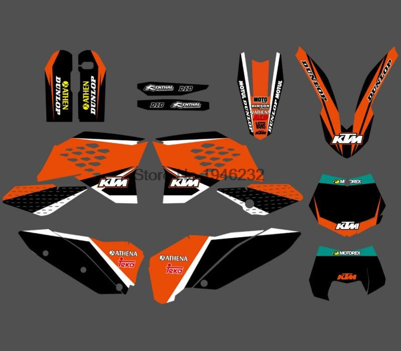 NEW STYLE TEAM GRAPHIC DECALS STICKERS WITH MATCHING BACKGROUNDS FOR KTM SX SXF 125 200 300 450 530 2007-2010 EXC XCF 2008-2011 0322 star new team graphics with matching backgrounds fit for ktm sx sxf 125 150 200 250 350 450 500 2011 2012