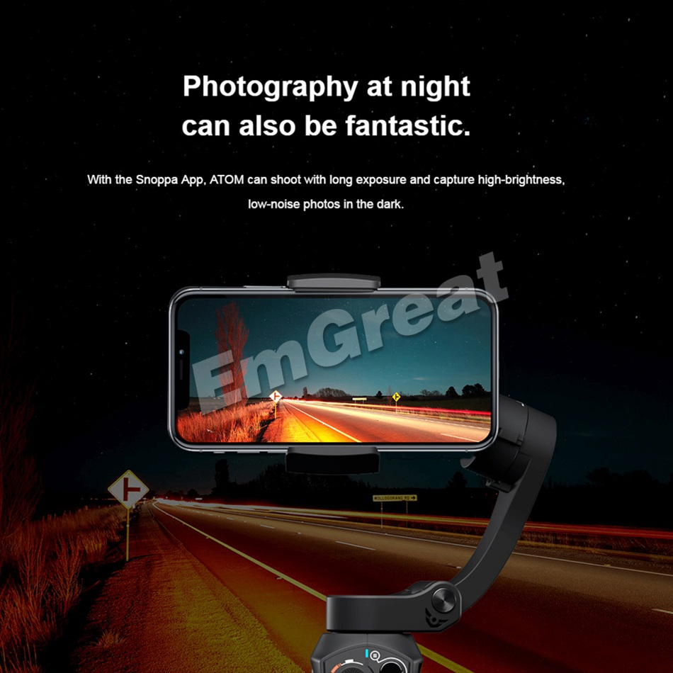 Pre-sell Snoppa Atom 3-Axis Foldable Pocket-Sized Handheld Gimbal Stabilizer for iPhone XS Smartphone GoPro & Wireless Charging