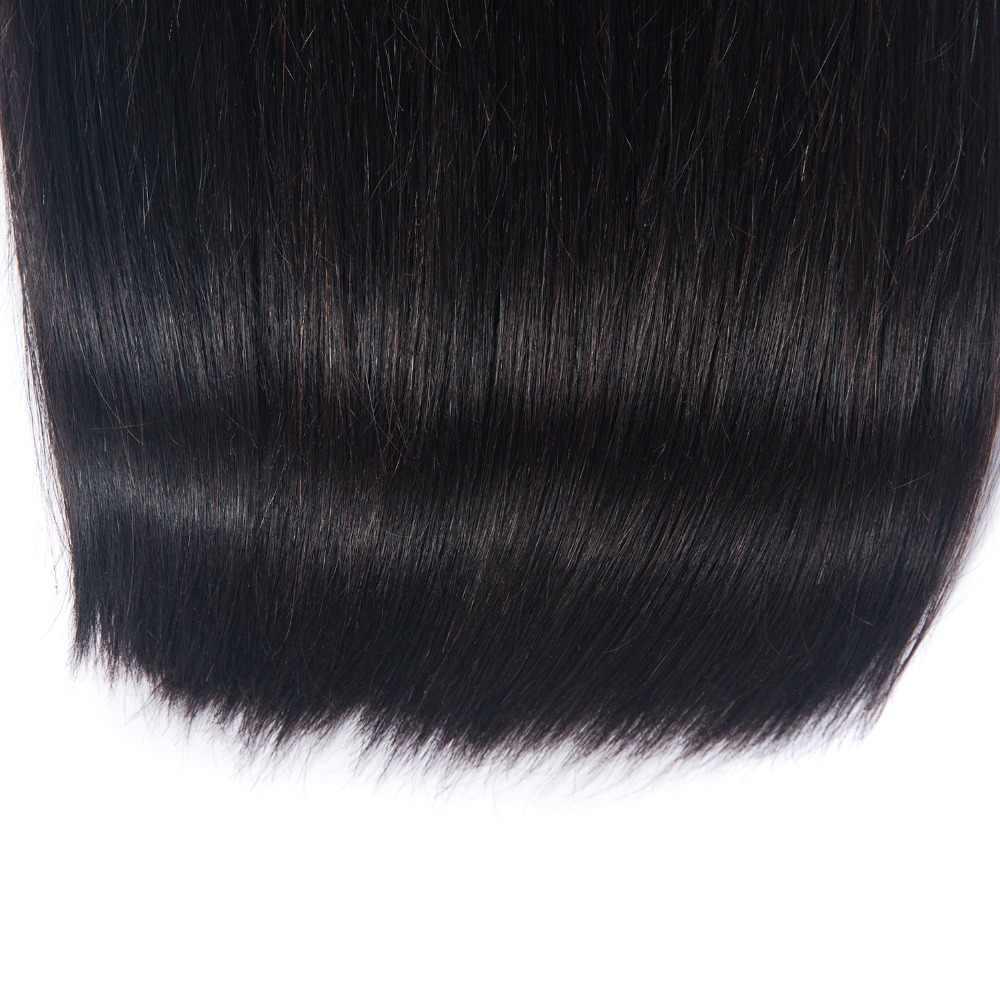 ישר שיער 1 חבילות צבע טבעי 100% שיער טבעי הרחבות רמי פרואני שיער 8-26 Inch לארוג משלוח חינם