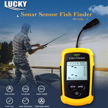LUCKY FF1108-1 Fish Finder 100M Portable Sonar Sensor Transducer Detector For Fishing 45 Degree 200kHz Fishfinder Fish Detector