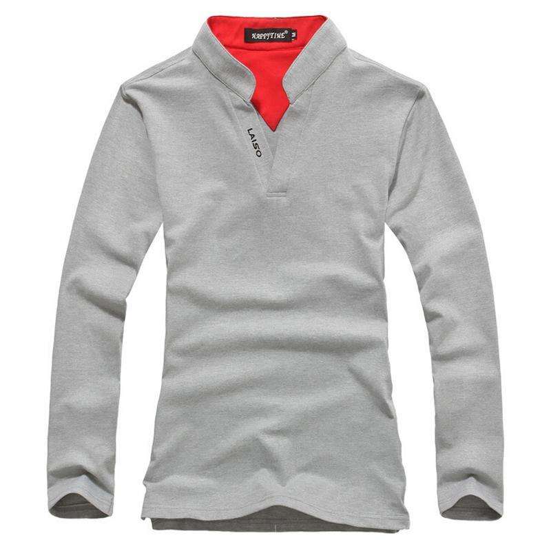 4ab60a42409 Brand New Fashion Spring Trend Print Slim Fit Long Sleeve TShirt Men Tee V-Neck  Casual Men T-Shirt Cotton T Shirts Plus Size 5XL