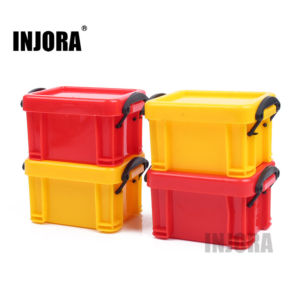 Yellow/Red Plastic Scale Storage Box Tool For 1:10 RC Rock Crawler Accessories TRX4 Axial SCX10 90046 Decoration