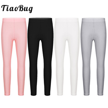 TiaoBug Kids Girls Solid Color Stretchy Seamless Leggings Tights Yoga Gymnastics Ballet Pants Children Dance Pantyhose Stockings - discount item  1% OFF Stage & Dance Wear