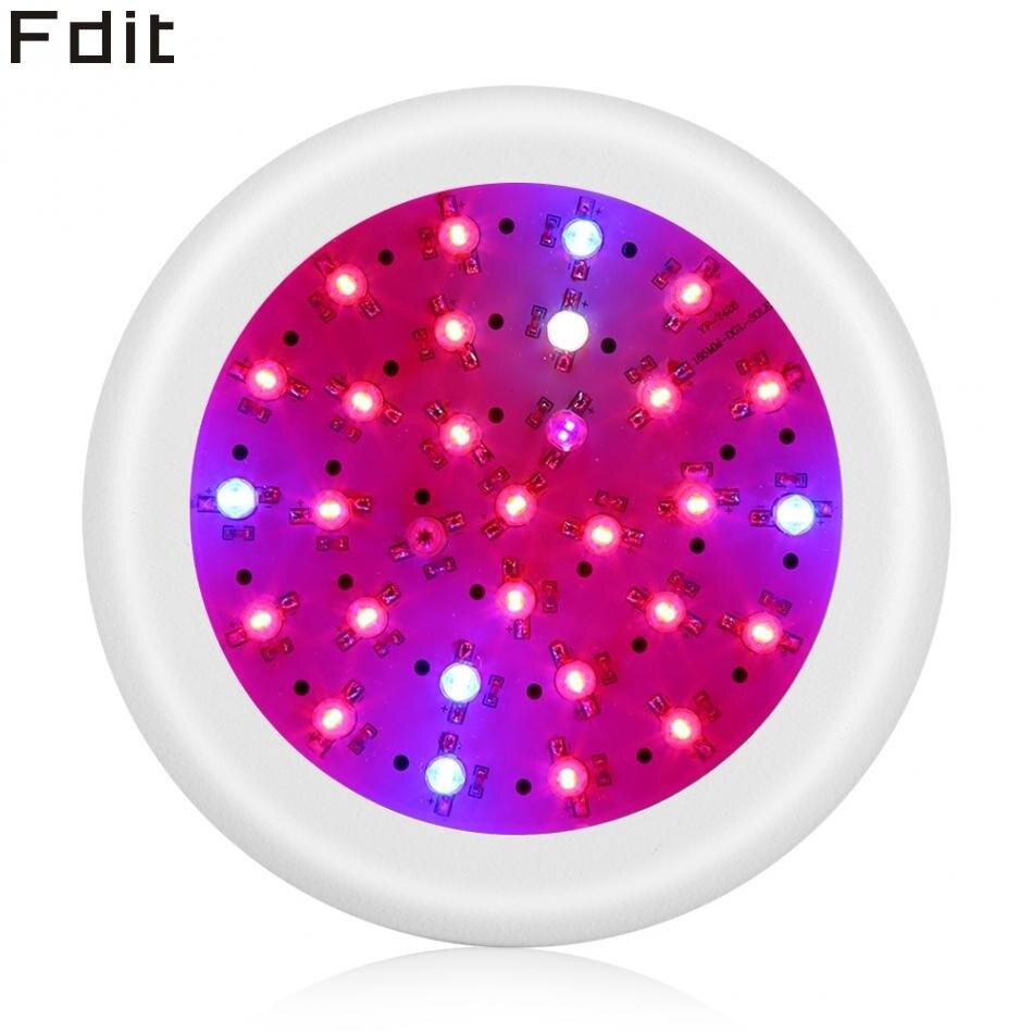 300W Full Spectrum 30 LED UFO Grow Light For Indoor Plants Veg Fruit Bloom Growth (EU Standard)
