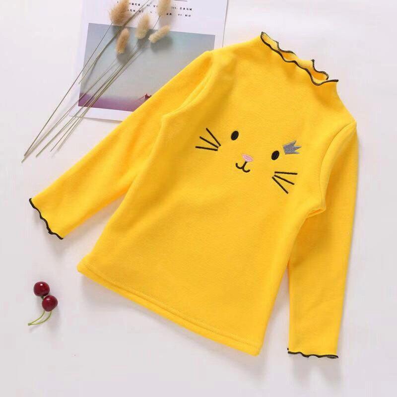 PPXX Baby Girl Sweater Cardigan Kids Sweatershirts Children Clothing Winter Autumn Sweater Tshirt Long Cartoon Cat Sweatershirt 4
