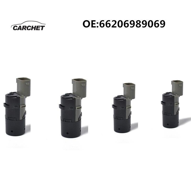 CARCHET 4 pièces 66206989069 C Capteur De Stationnement PDC pour BMW E39 E46 E53 E60 E61 E63 E64 E65 E66 E83 X3 X5 Aide Au Stationnement