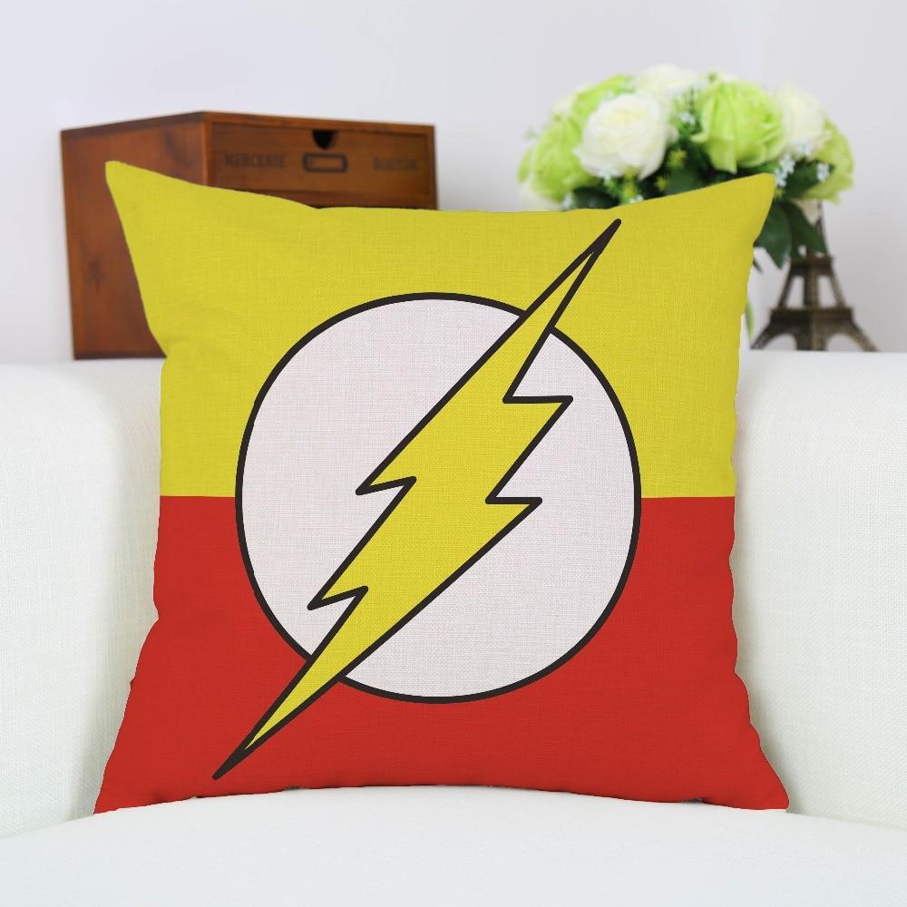Chiledrens Favourite Awesome Linen Avengers Superhero Batman Superman Captain America Pillow Case Seat Sofa Chair Cushion Cover