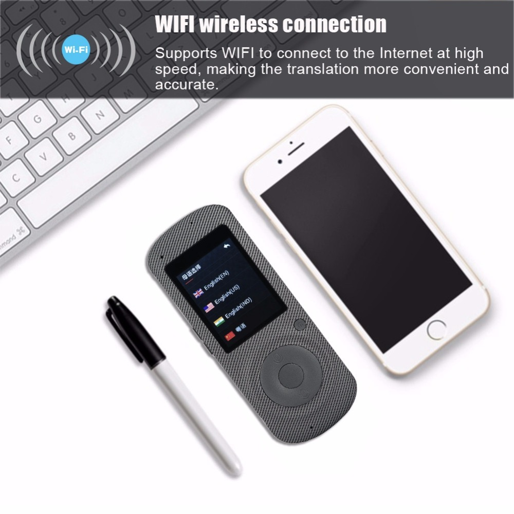 Intelligent Language Voice Translator WiFi Instant Portable Translator 2 Way Real-Time Translation Traveling Meeting Translator