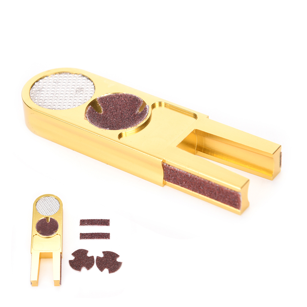 1pc Golden U Shape Snooker Cue Tip Repairer Tool Muti