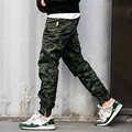 Hot Sale Men's Camouflage Jogger Pants Slim Casual Pants Teenagers Long Trousers 3 Colors