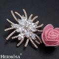 Nova hermosa exclusivo projeto da flor delicada perfeito brilhante senhora aaa branco cz ouro rosa floral pinos broche nupcial da jóia do casamento
