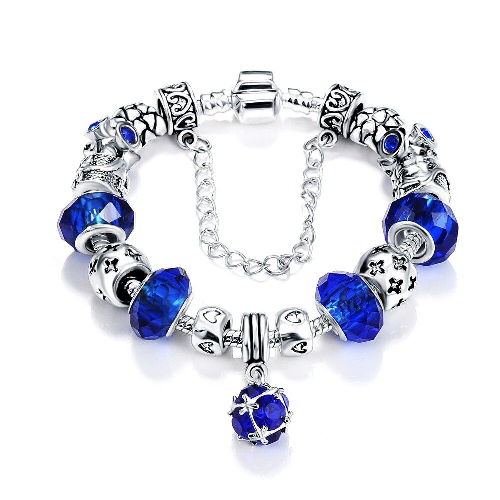 2016 fashion charms fit original bracelet silver