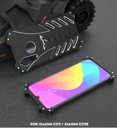 Fashion Shockproof Metal Case For Xiaomi Mi CC9(A3 Lite) CC9e(A3) Hard Cover Heat Dissipation Sports Outdoor+Straps+Stand Holder