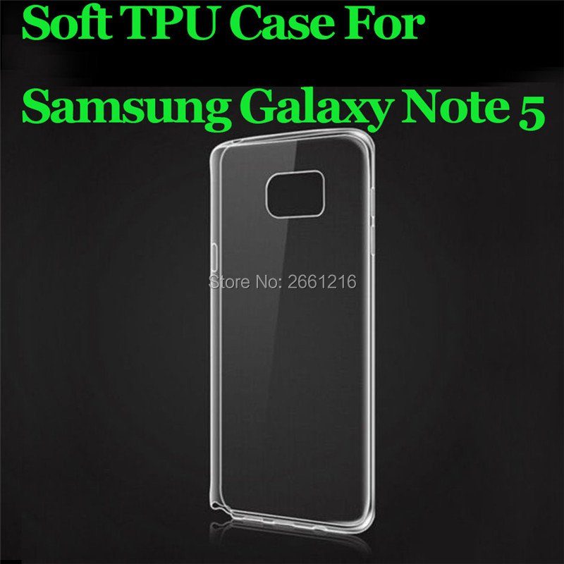Note 5 Ultra Thin Soft TPU Silicon Gel Transparent Case Back Housing Cover For Samsung Galaxy Note 5 N9200 5.7