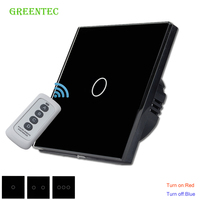 EU Standard Remote Control Switch 1 2 3 Gang 1 Way Remote Touch Switch Smart Touch