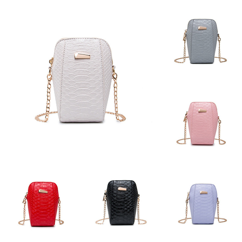 New Arrival Fashion Women Crossbody Bag Lady Leather Shoulder Bag Chain Strap Messenger Bag Phone Coin Clutch Bag bolsos mujer T