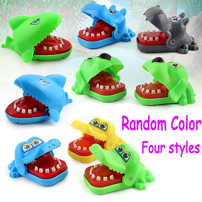 2019 New Bite Toy Crocodile Mouth Dentist Bite Finger Game Creative Small Size Funny Gags Toy For Kids Play Fun Prank Gag Gifts
