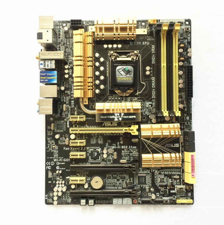 D'origine Z87-DELUXE Carte Mère De Bureau Z87 Socket LGA 1150 i7 i5 i3 DDR3 32G SATA3 USB3.0 ATXmotherboard utilisé 90% nouveau