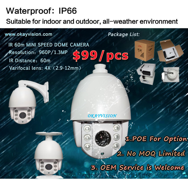 Factory Directly Sale for High Speed Dome Camera with 1.3MP mini PTZ IP Cameras,P2P ONVIF 960P Network PTZ Camera