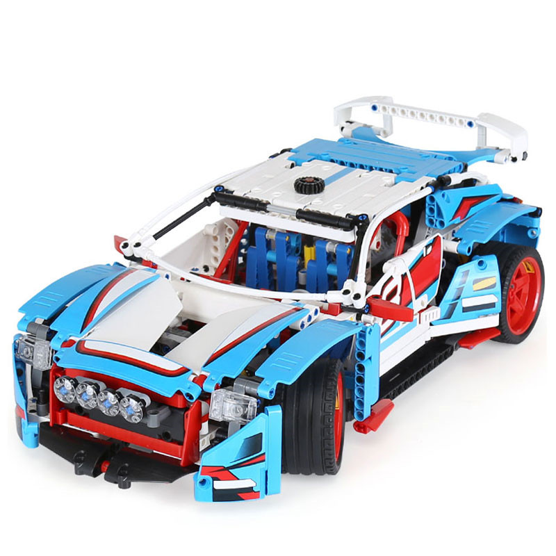 Hot Sale 1085pcs Diy The Techinc Rally Car Model Educational Building Blocks Compatible With Legoingly Toys Gift For Children wange mechanical application of the crown gear model building blocks for children the pulley scientific learning education toys