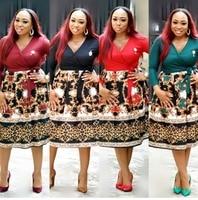 New style African Women clothing Dashiki fashion Print cloth dress size L XL XXL 227