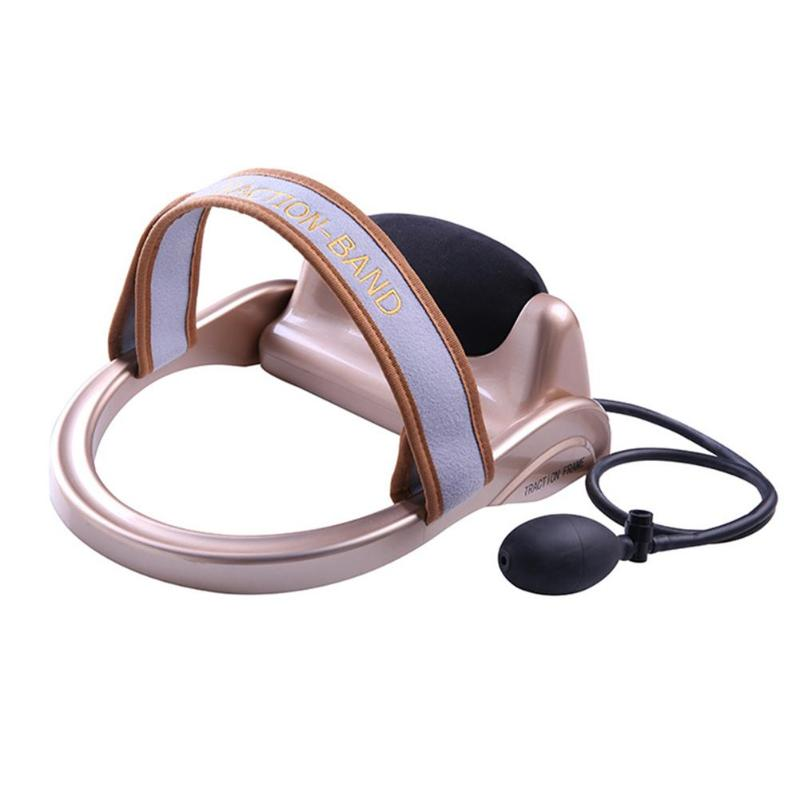 Neck Traction Filled Air Cervical Tractor Portable Posture Pump Relaxing Vertebra Massager Spine Muscle Relief Pain Tools