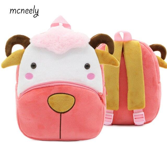06365cc10551 US $8.31 48% OFF|2 4 Years Old Kindergarten Kids Sheep Backpacks Baby Girls  Boys Cute Schoolbag Plush Backpack Children Cartoon School Bags-in School  ...