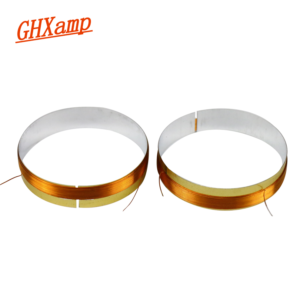 GHXAMP 24.8MM Tweeter Trebel Voice Coil 8ohm Horn Speaker Voice Coil Silver Wire 2PCS