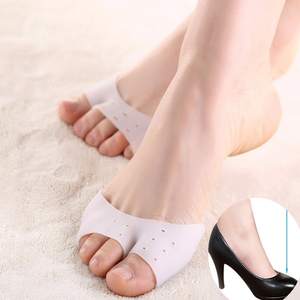 1 Pair Silicone Toe Sleeve Foot Protection Ballet High Heels Hallux Valgus Gel Protective Protector Care Tool Massge Toe Pad(China)