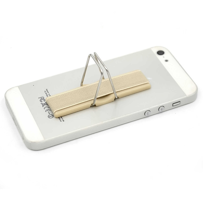Besegad Dispositivo Dedo Sling Aderência Telefone Tablet Móvel Universal Titular Suporte de Suporte Embutido Adesivos Mágicos Antiderrapante Cáqui