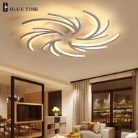 Белый Акрил современные светодиодный Потолочные светильники для Гостиная Спальня светильников светодиодный потолочный светильник AC110V 220