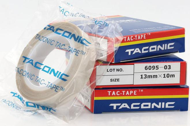 wholesale 10m 0 13mm South Kore TACONIC 6095 03 Teflon High Temperature Heat Resistant Adhesive Tape PTFE fiber cloth duct tape in Tape from Home Improvement